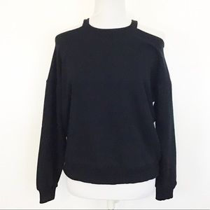Maeve 100% Cotton Open Shoulder Sweatshirt